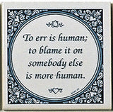 Dutch Magnet Tiles: To Err Is Human - DutchNovelties