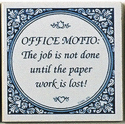 Dutch Magnet Tiles: Office MottoÉ - DutchNovelties