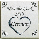 German Magnetic Magnet Tile (Kiss German Cook) - DutchNovelties