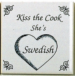 Swedish Culture Magnetic Tile (Kiss Swedish Cook) - DutchNovelties  - 1