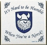 Norwegian Culture Magnetic Tile (Humble Norsk) - DutchNovelties
