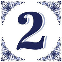 Ceramic Delft Blue House Numbers Tile - DutchNovelties  - 2