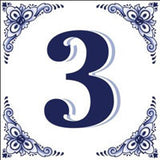 Ceramic Delft Blue House Numbers Tile - DutchNovelties  - 3