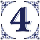 Ceramic Delft Blue House Numbers Tile - DutchNovelties  - 4