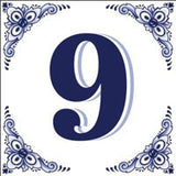 Ceramic Delft Blue House Numbers Tile - DutchNovelties  - 9