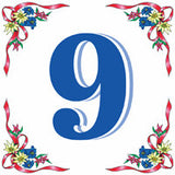 European Ceramic House Numbers Tile - DutchNovelties