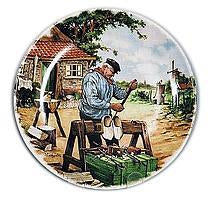 Collectible  J.C Van Hunnik Plates Clogmaker Color