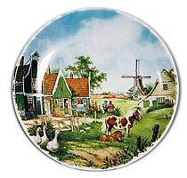 Dutch Collectible Plate Duck and Pony - $10 - $20, Animal, Collectibles, CT-210, Decorations, Dutch, Home & Garden, Kitchen Decorations, Plates, Tiles-Scenic Plates, Van Hunnik, Windmills