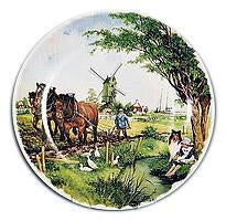 Collectible  J.C Van Hunnik Plates Farmer Color