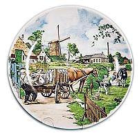 Collectible  J.C Van Hunnik Plates Milkman Color