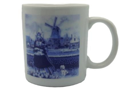 Delft Blue Tulip Time Girl Dutch Cup