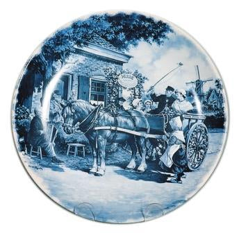 Collectible  J.C Van Hunnik Plates Wedding Blue