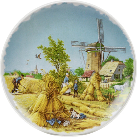 Collectible Plate Summer Scene Color - DutchGiftOutlet.com