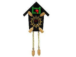 Fridge Magnets German Wooden Cuckoo Clock - DutchNovelties