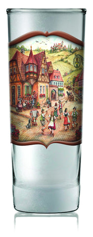 German Souvenir Frosted Shooter: Dancers - DutchNovelties