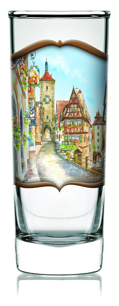 German Shooter Glass Clear: Village - DutchNovelties  - 1