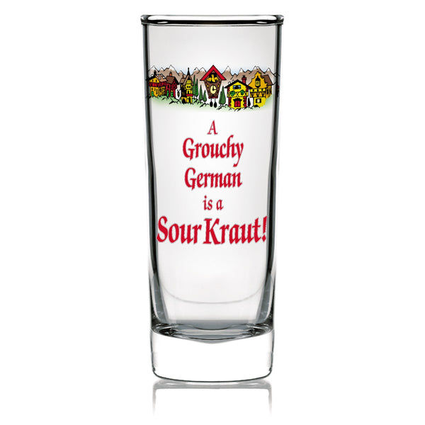 German Souvenir Clear Shooter: Grouchy German