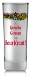 German Souvenir Frosted Shooter: Grouchy German - DutchNovelties