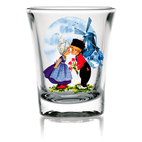 Dutch Gift Shot Glasses: Dutch Kiss Clear