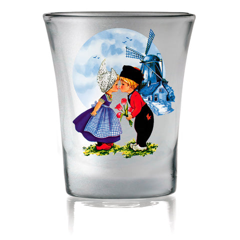 Dutch Gift Shot Glasses: Dutch Kiss Frosted