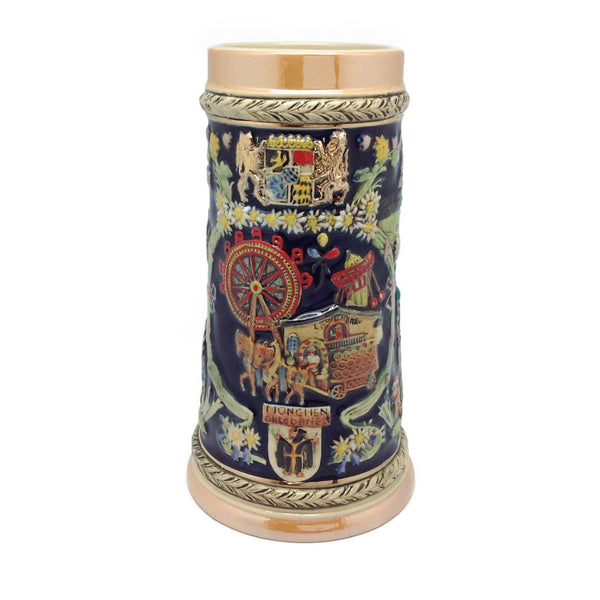 German Stein Ferris Wheel Engraved no/Lid - DutchNovelties