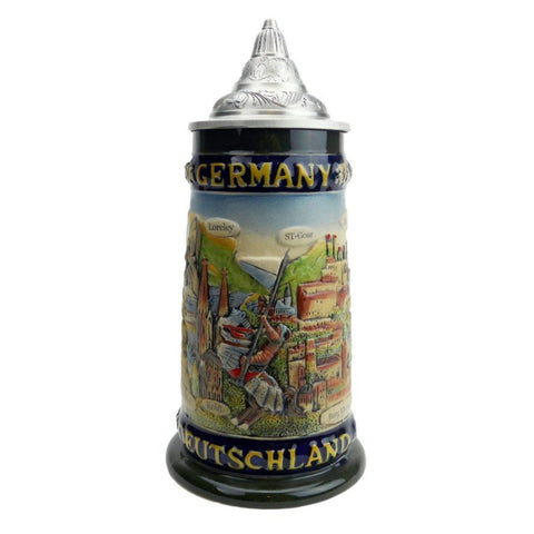 German Legends Ceramic Stein with Lid