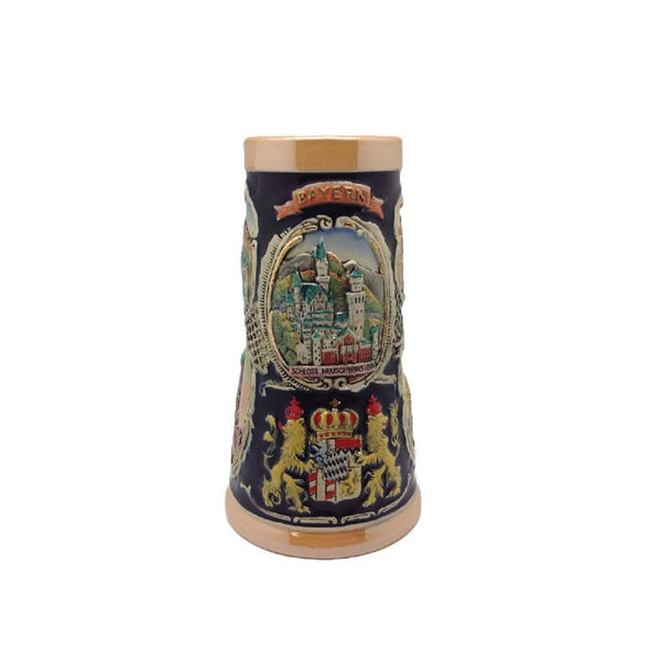 German Banner Collectible Beer Stein w/out Metal Lid
