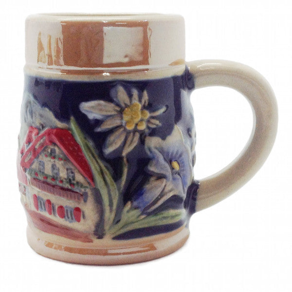 Beer Stein: Embossed Alpine Village Shot Glass - DutchNovelties  - 1