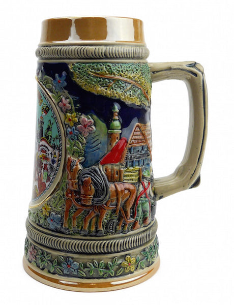 Oktoberfest Ceramic Stein without Lid - DutchNovelties