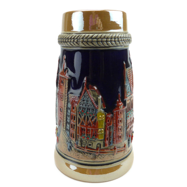 German Village Ceramic Stein without Lid - DutchNovelties