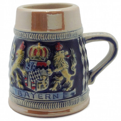 Beer Stein: Embossed Bayern Crown Shot - DutchNovelties  - 1