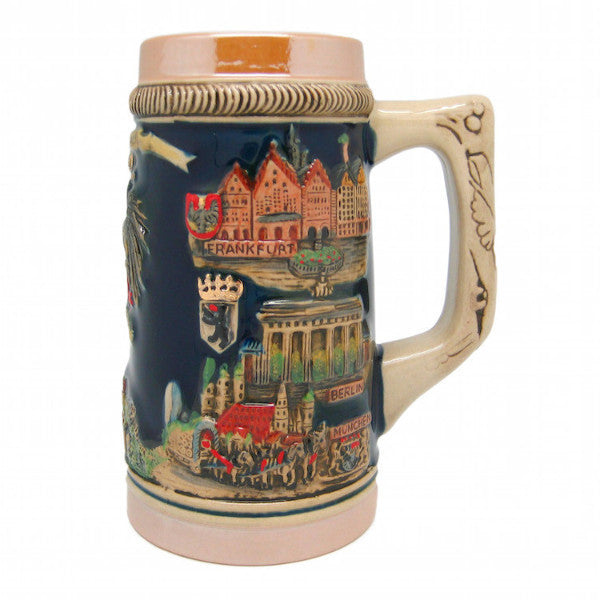 German Beer Mug Landmarks Metal Lid - DutchNovelties