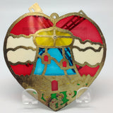 Windmill Design Red Heart Shaped Sun catcher - DutchNovelties  - 2