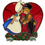 Red Heart Shaped Sun catcher w/ Kissing Couple - DutchNovelties