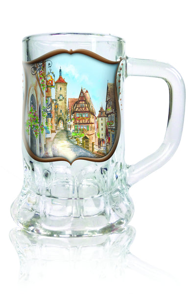 German Souvenir Shot Dimpled Mug: Euro Viallage - DutchNovelties  - 1