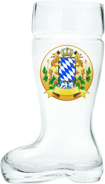 Bayern Crest Beer Boot Glass - DutchNovelties  - 2