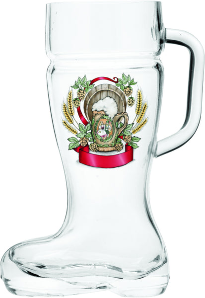 Harvest Crest Beer Handle Boot Glass - DutchNovelties  - 2