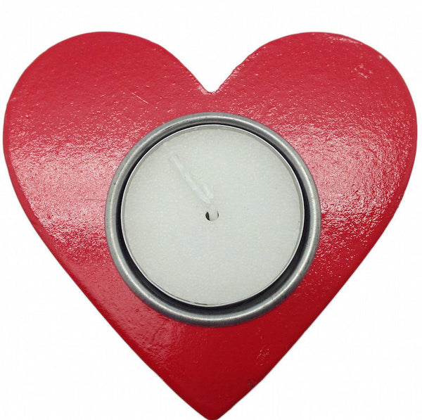 Norwegian Party Favor Heart Candle Votive Red - DutchNovelties
