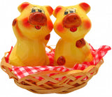 Collectible Salt and Pepper Shakers Pigs Basket - DutchNovelties  - 1