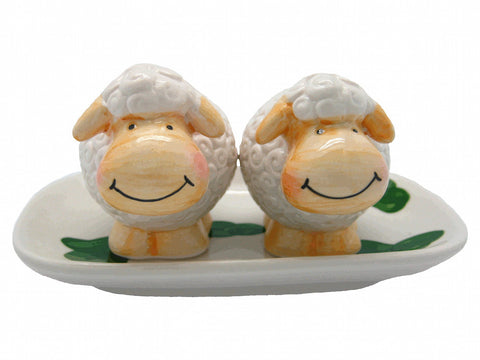 Ceramic Salt and Pepper Sets Happy Sheep - DutchNovelties  - 1