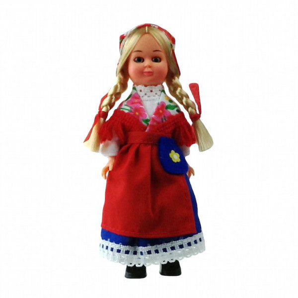 Scandinavian Girl Doll In Finnish Costume - DutchNovelties