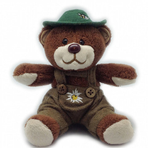 Stuffed German Teddy Bear Boy (with hat) - DutchNovelties  - 1