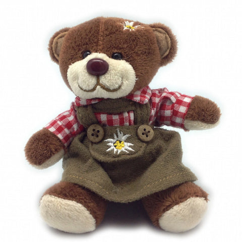 Stuffed German Teddy Bear Girl (with red shirt) - DutchNovelties  - 1