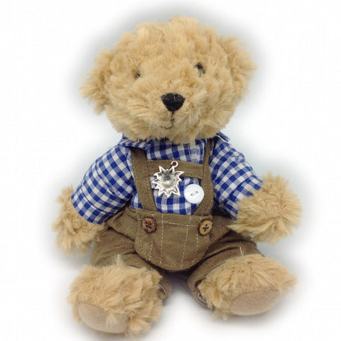 Stuffed German Teddy Bear Boy (blue shirt) - DutchNovelties  - 1