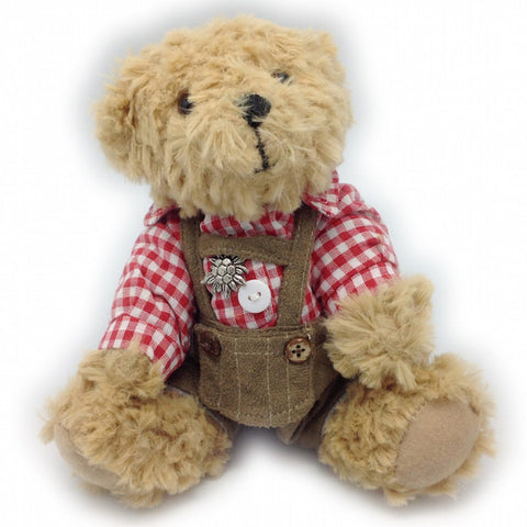 Stuffed German Teddy Bear Boy (red shirt) - DutchNovelties  - 1