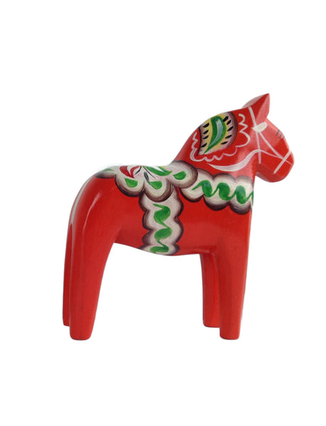 "Red Dala Wood Horse 6.25"" - DutchNovelties"