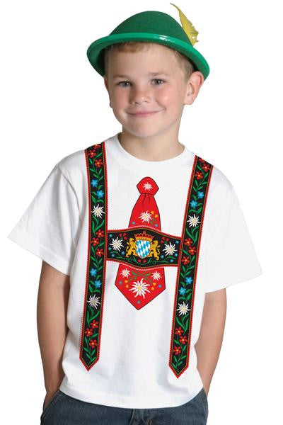 Oktoberfest Youth Shirts Lederhosen - DutchNovelties  - 1