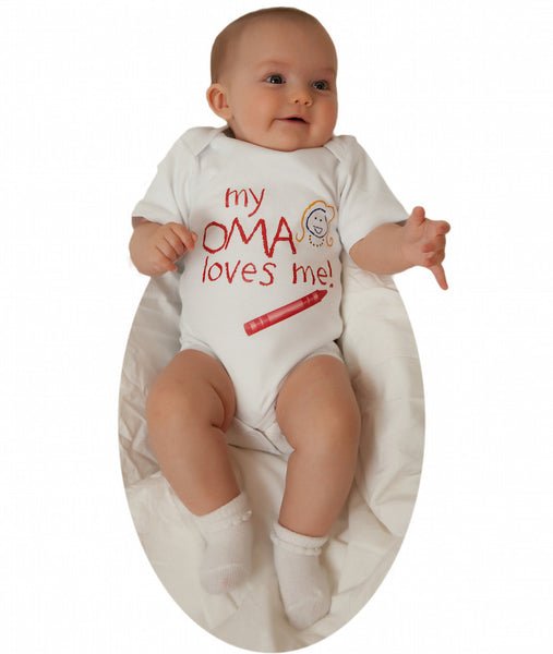 "Oma Kids Diaper Shirt ""My Oma Loves Me"" - DutchNovelties"