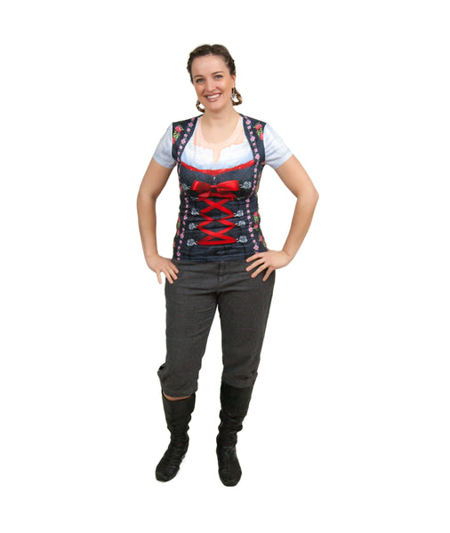 German Costume Dirndl Realistic Faux Edelweiss Shirt - GermanGiftOutlet.com