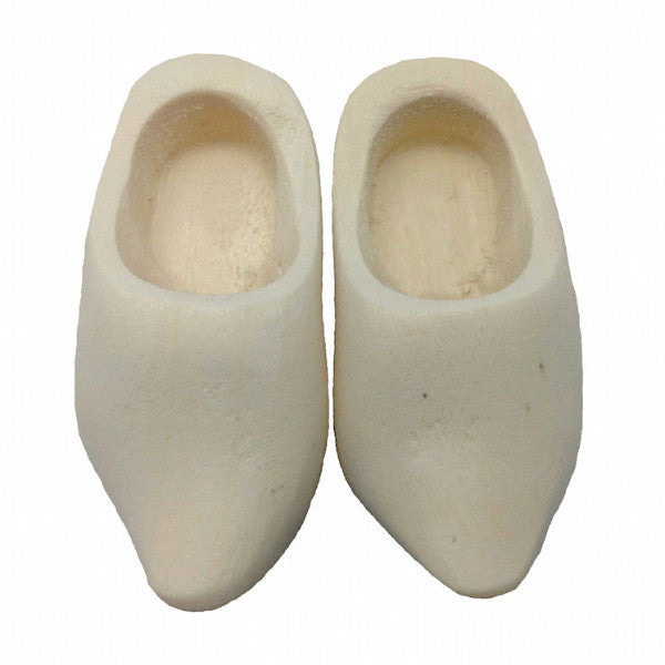 Doll Wooden Clogs Pair Natural - DutchNovelties  - 2